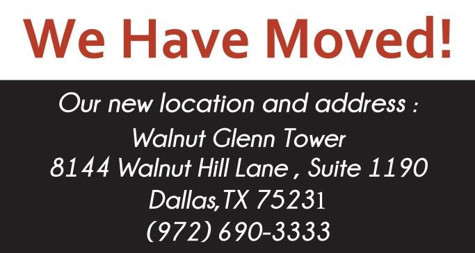 We Have a New Address! New Office Location in Dallas for Nacol Law Firm – Effective August 6, 2018